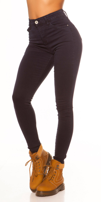 Sexy Skinny High Waist 5 pocket Jeans Darkblue
