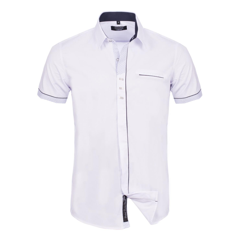 Overhemd met korte mouwen wit