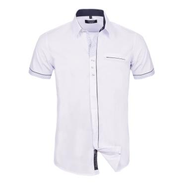 Overhemd Wit Korte Mouw.Overhemd Met Korte Mouwen Wit C9088 1 Van Carisma Sexy Store