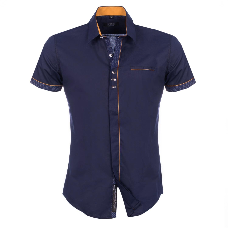 Overhemd met korte mouwen Navy