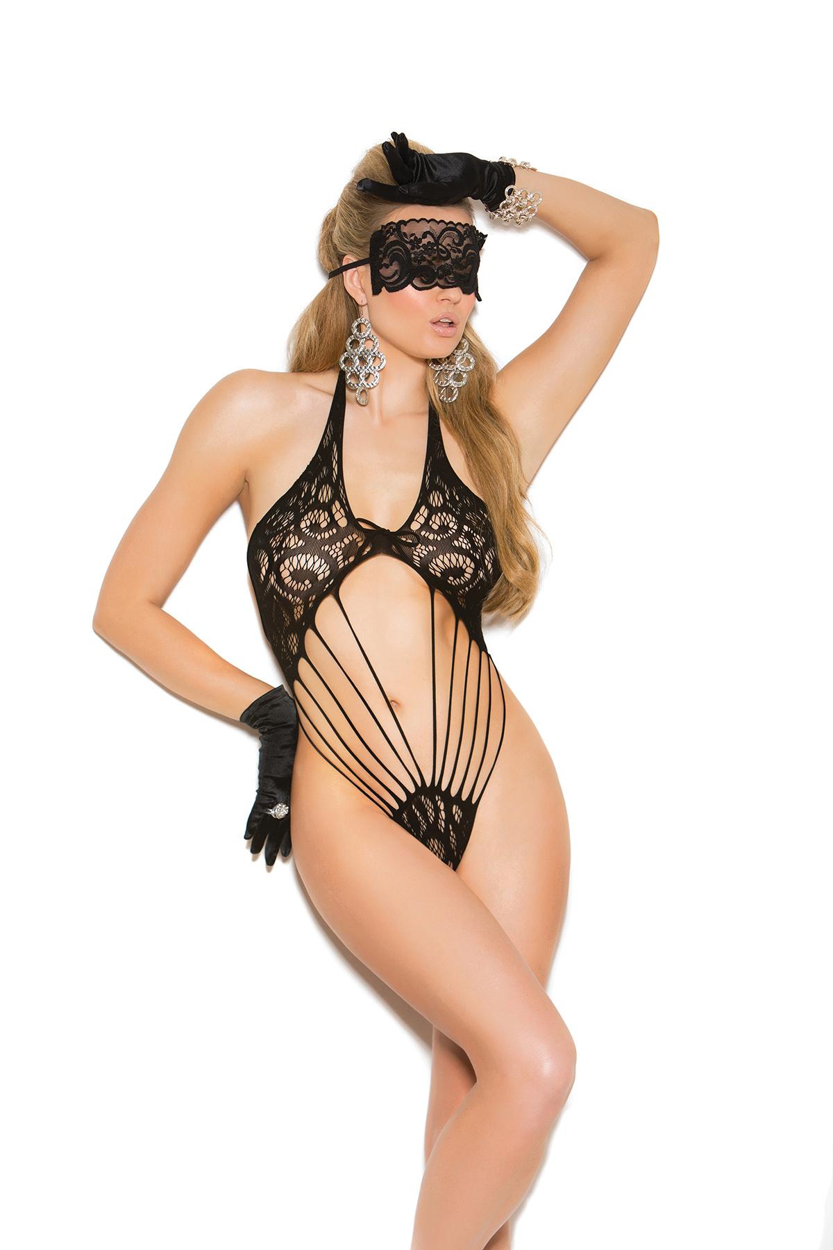 Kanten Body + Masker Zwart
