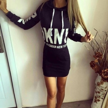 Dress with Hood Black