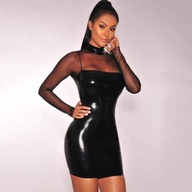 916d7ae0a6dda1 Sexy Lak wetlook jurk Zwart - ei0091-1 van SXY Trend - Sexy-Store ...