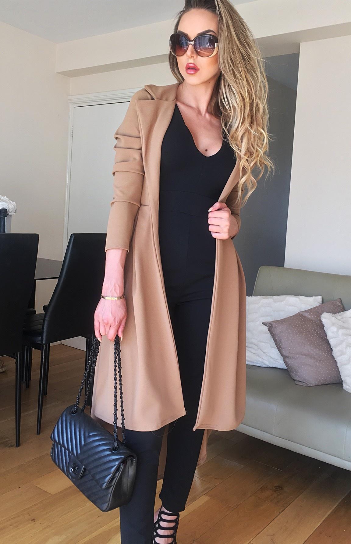 Natalie mantel camel