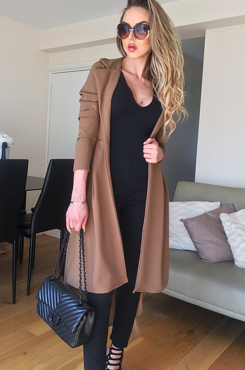 Natalie mantel bruin