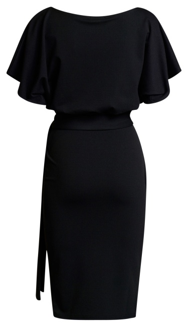 584b52571e04 Judith Wrap Front Batwing Dress Black - ep0124-4 by Exclusive ...