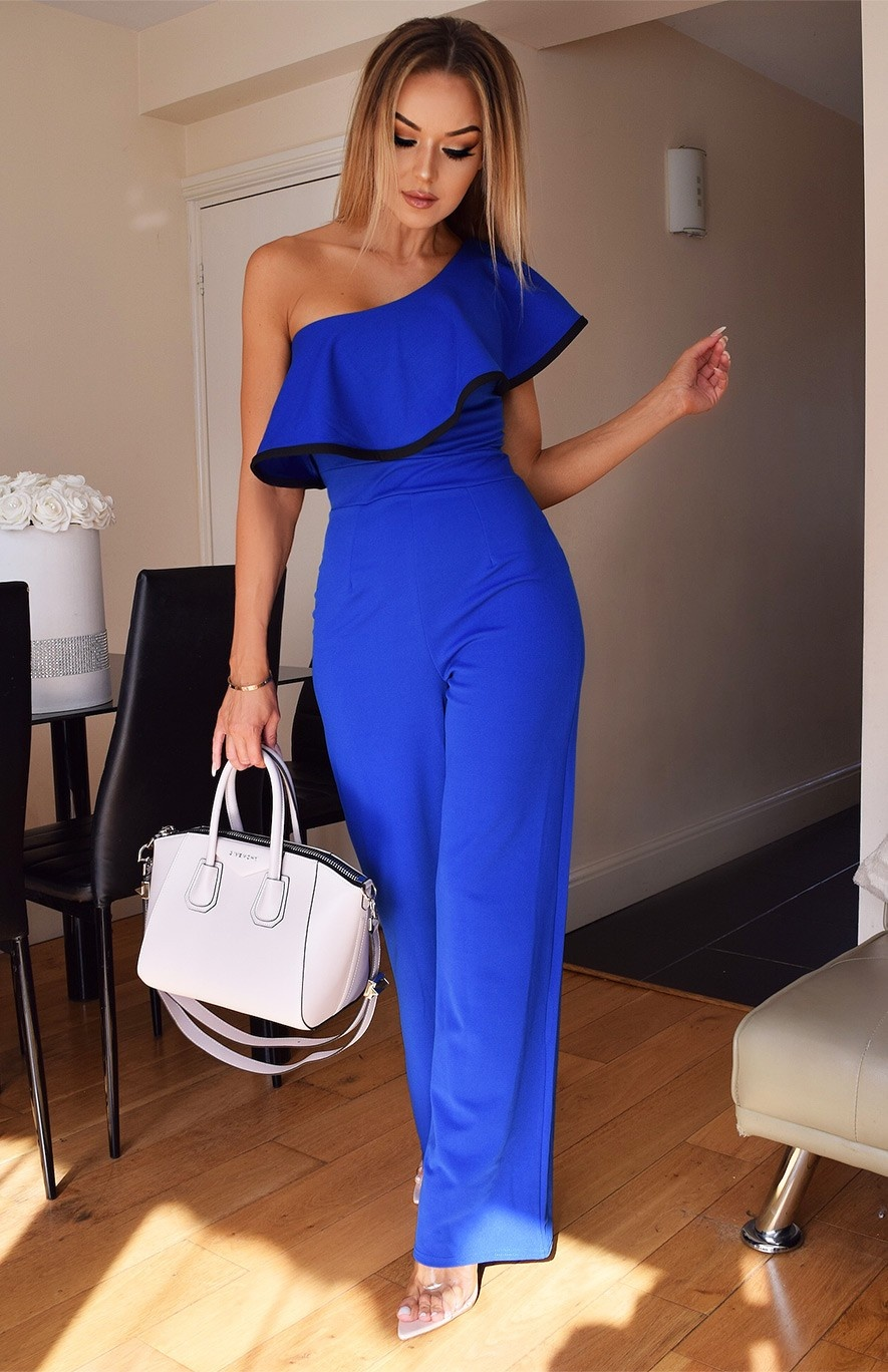 Alicia One Shoulder Jumpsuit Royal blue