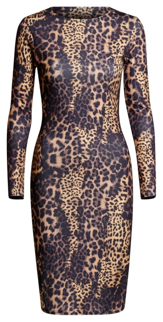 Erin Bodycon Midi Dress Brown