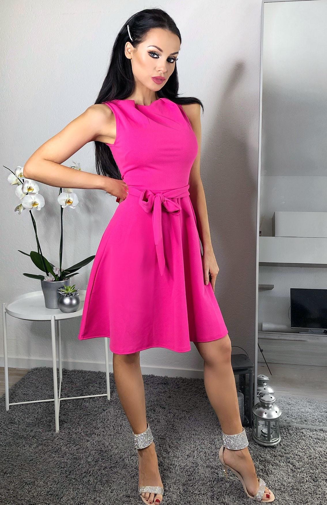 Mabel volant-geplooide skater jurk roze