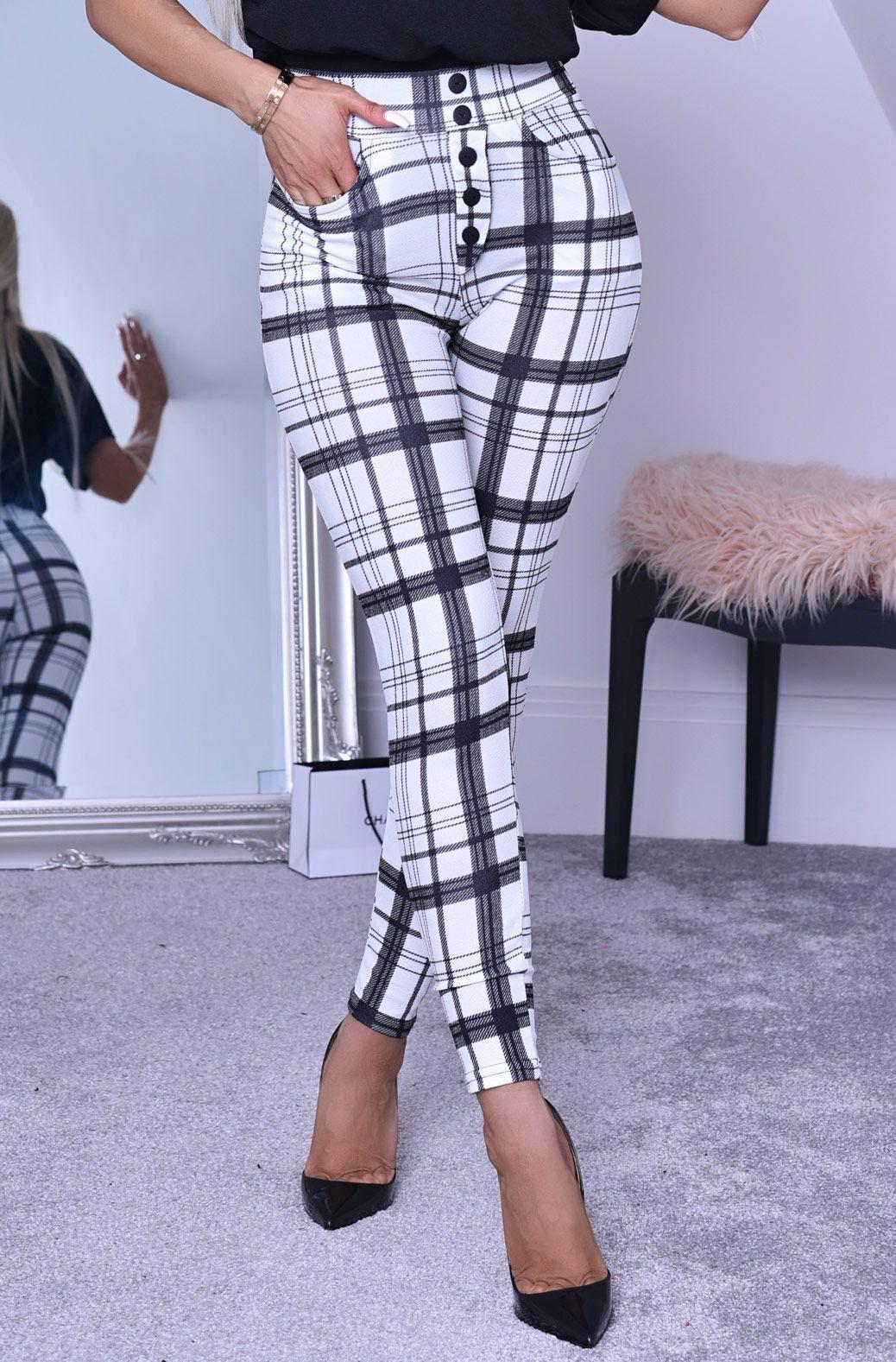 Lottie crepe broek met zakken ivoor-kleurig