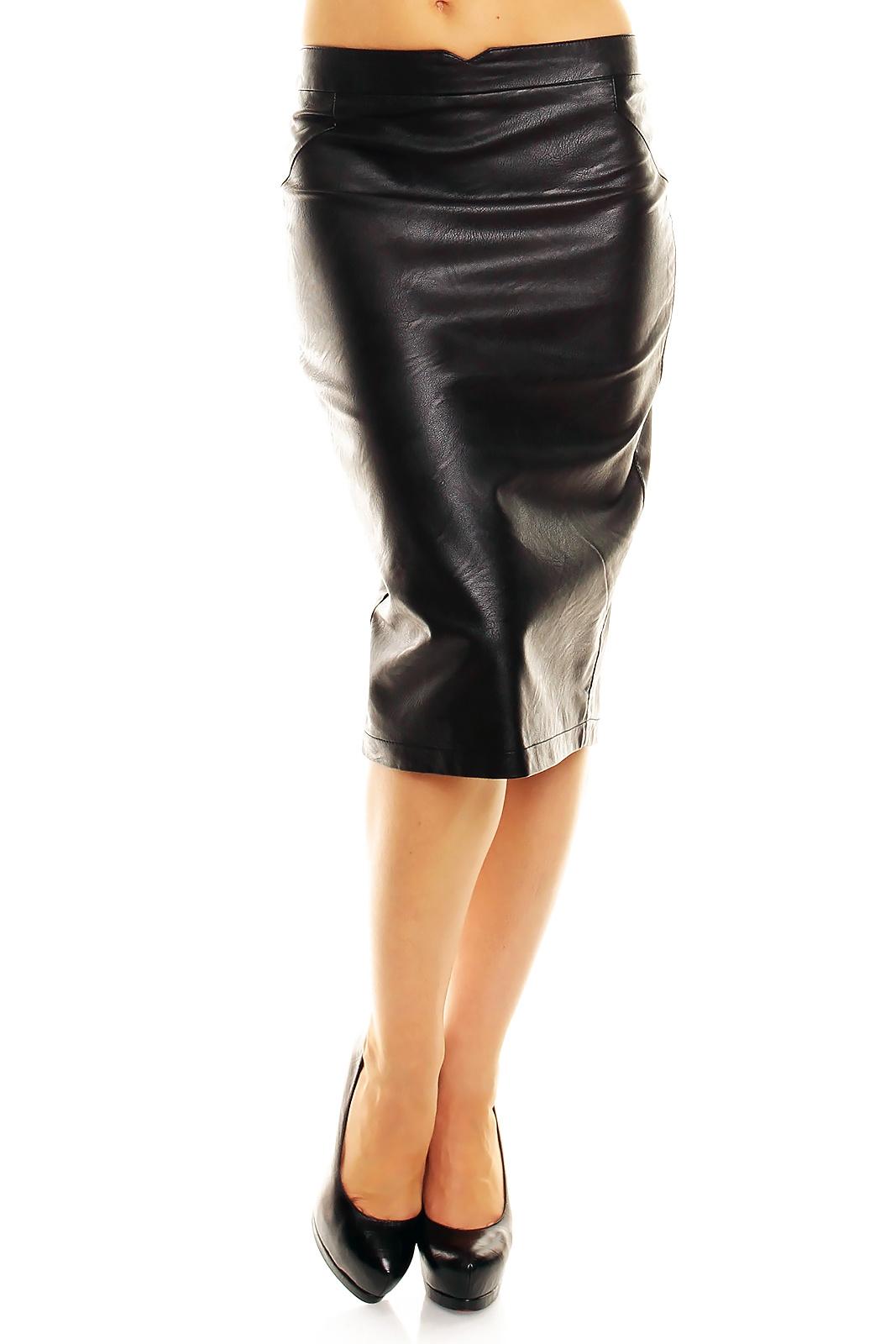 Leder-Look Rok Zwart