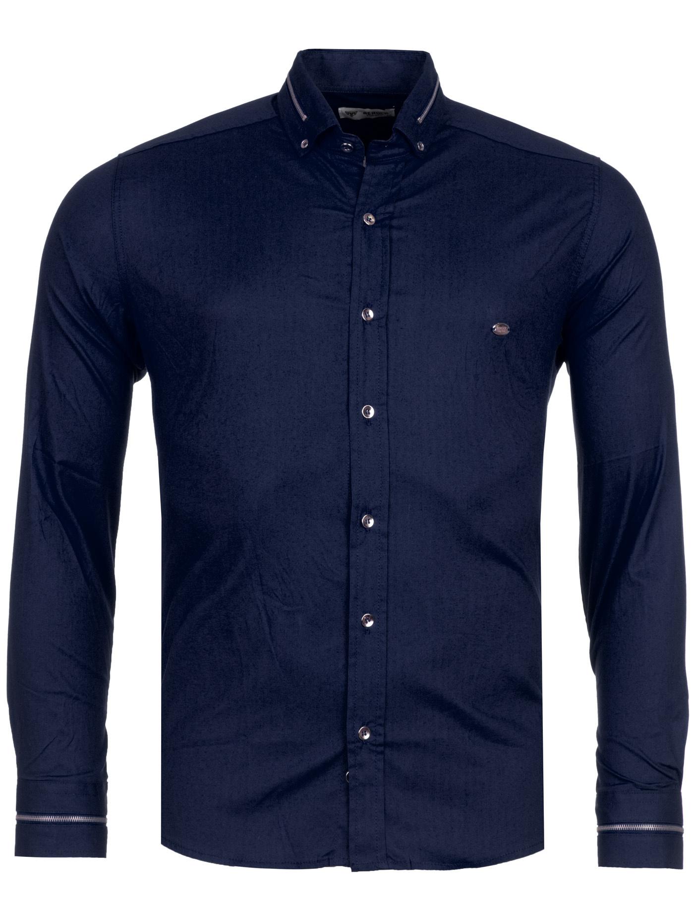 Overhemd marineblauw