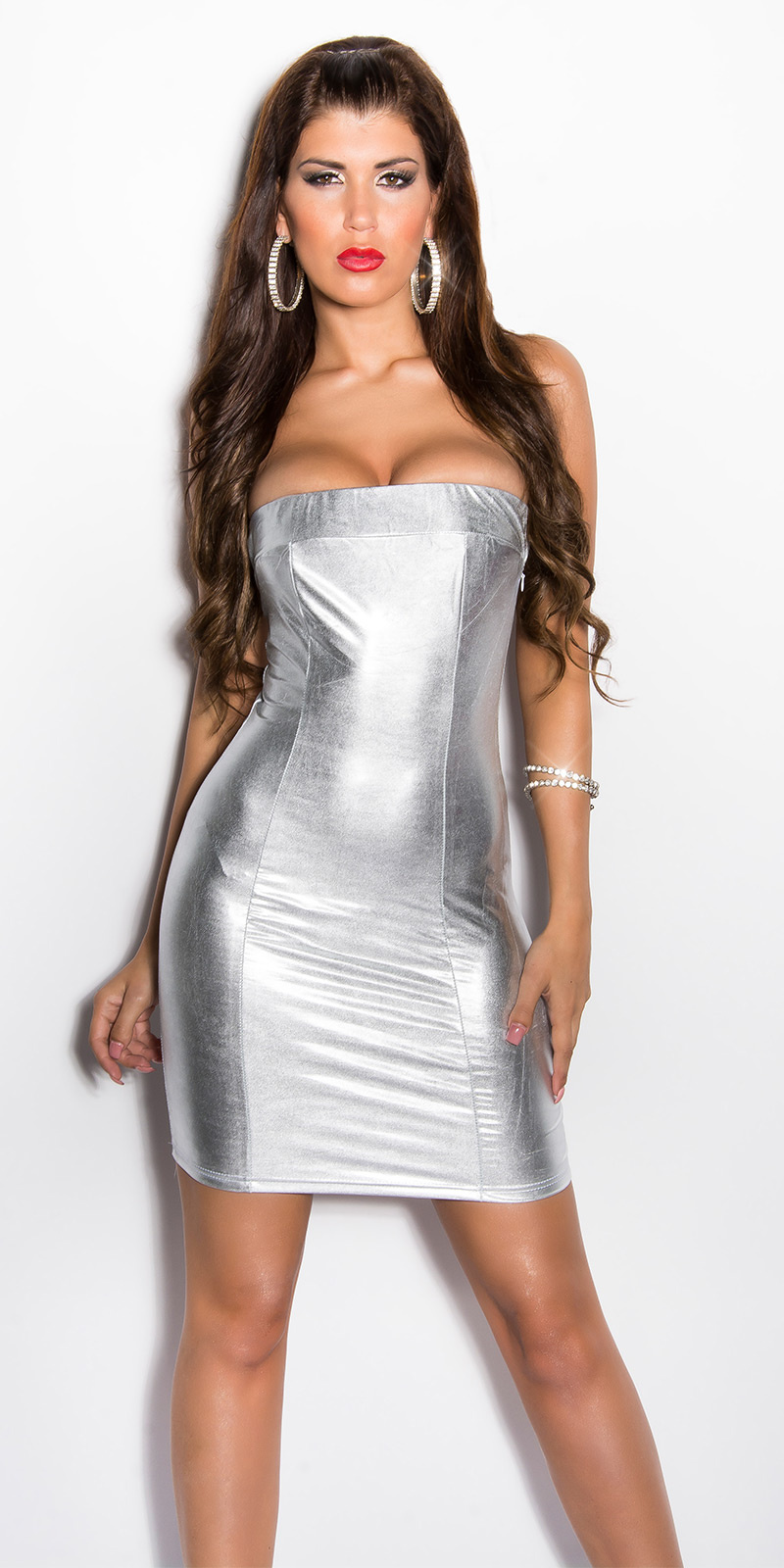 Gogo-Bandeau-Minidress Silver