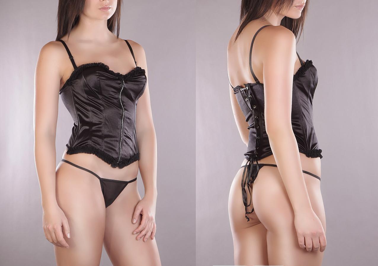 Corset + String Zwart