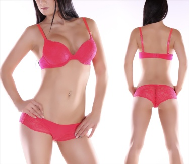 Push-Up-Bra + Pants Red
