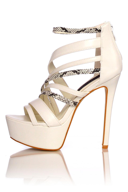 High Heels Sandaletten Wit