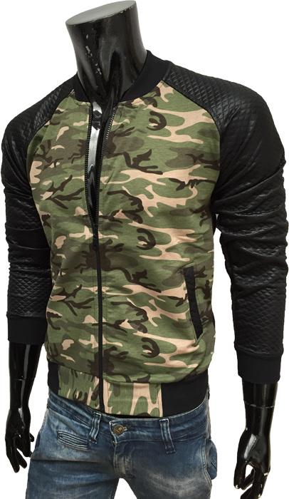 Sweat-Jack Camouflage - Zwart