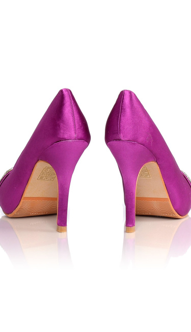 Satin Evening Shoes / Pumps Purple