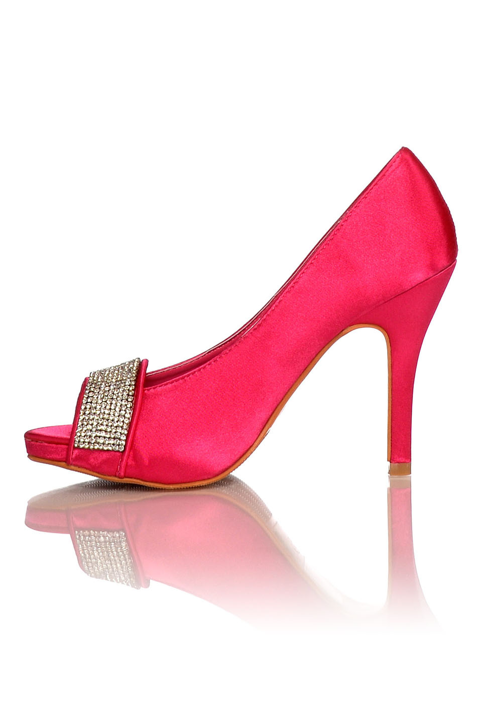 Satin Evening Shoes - Pumps Fuchsia