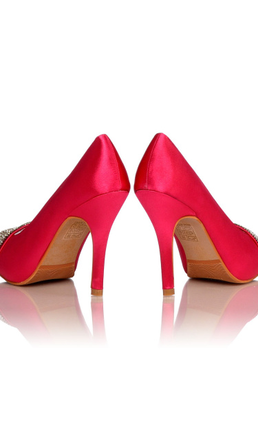 Satin Evening Shoes / Pumps Fuchsia