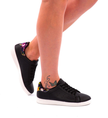 Sneakers Black / Flower