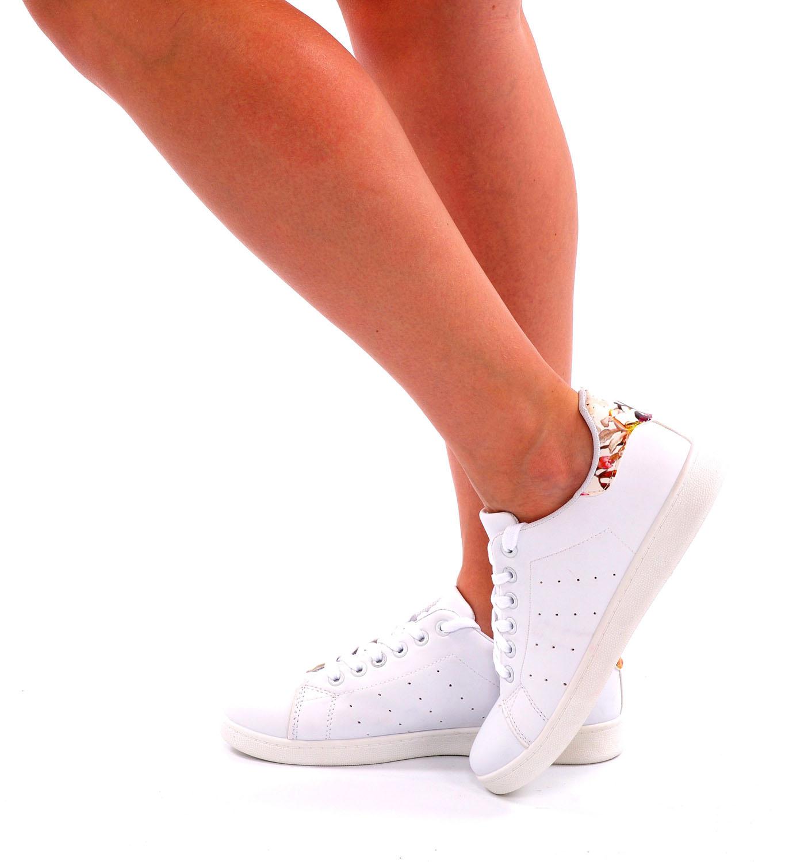 Sneakers Wit - Bloemen