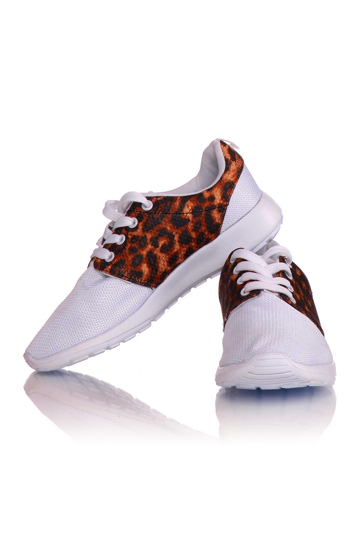 Sneakers wit / luipaard