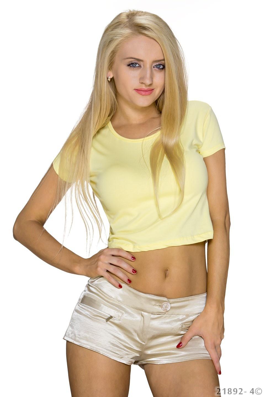 Crop-Shirt Geel