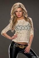 Shirt met korte mouwen Wit / goud