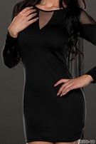 Long-Sleeved-Minidress Black