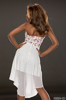 Bandeau Dress White