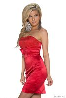 Bandeau Minidress Red