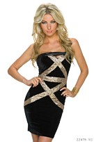 Mini Dress Black / Gold