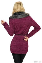 Cardigan Wine-red