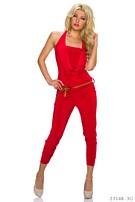 Halter-Jumpsuit Rood