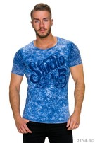 T-Shirt Mixed / Donker-Blauw
