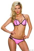 Halter-bikini Neon-Roze