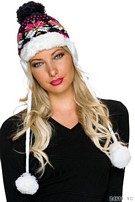 Knitted Hat Mixed / Black