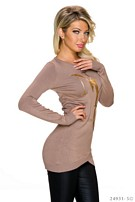 Long-Sleeved-Minidress Brown