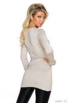Long-Sleeved-Minidress Cream