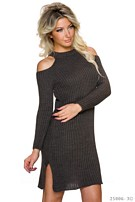 Knitted-Mini-Dress Black