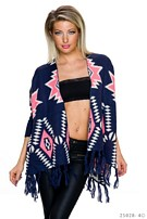 Cardigan Mixed / Dark-Blue