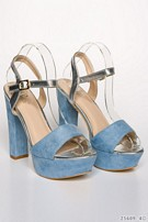 Plateau-pumps Blue