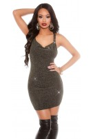 Party lurexdress with sequins Gold