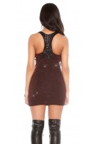 Party lurexdress with sequins Red