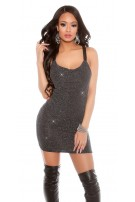 Party lurexdress with sequins Silver