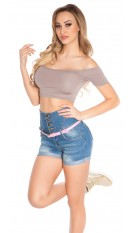 Sexy Shortsleeve crop top Taupe