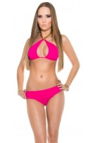 Sexy Neck-Bikini with chainstraps Fuchsia