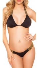 Sexy Neck-Bikini Black