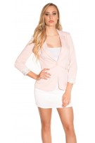 Sexy KouCla summer blazer plain colors Antiquepink